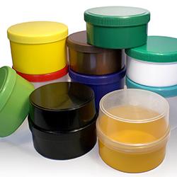 Farbige Kunststoffdosen in Wunschfarbe produzieren lassen
